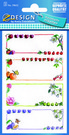 Z-Design 59652 Naklejka spiżarniana - owocowe ramki 3 arkusze, 12 naklejek