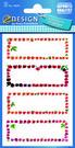 Z-Design 59693 Naklejka spiżarniana - owocowe ramki 3 arkusze, 12 naklejek