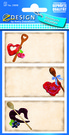 Z-Design 59898 Naklejka papierowa na przetwory - 2 arkusze, 6 naklejek