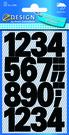 Z-Design 3785 Cyfry samoprzylepne czarne 25 mm wodoodporne