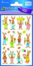 Z-Design 39156 Naklejki wielkanocne - króliki 2 arkusze