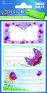Z-Design 59199 Naklejki na zeszyty i książki - motylki 2 arkusze