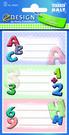 Z-Design 59203 Naklejki na zeszyty i książki - litery ABC 2 arkusze
