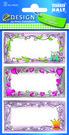 Z-Design 59243 Naklejki na zeszyty i książki - dla dziewczynki 2 arkusze