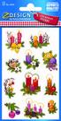 Z-Design 4050 Naklejki bożonarodzeniowe stroiki 2 arkusze