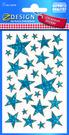 Z-Design 52259 Naklejka bożonarodzeniowa niebieskie gwiazdki 1 arkusz
