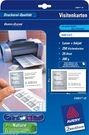 Wizytówki C32011-25 85x54 Quick&Clean, 250 wizytówek, mikroperforacja, matowe