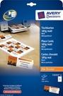Karty pocztowe Avery Zweckform C32253-25, 40x110mm, 185g/m2, matowe,100 szt.
