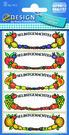 Z-Design 3712 Naklejka spiżarniana - kolorowe owoce 3 arkusze, 15 naklejek