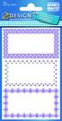 Z-Design 59675 Naklejka spiżarniana - fioletowe ramki 3 arkusze, 9 naklejek