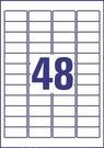 Etykieta adresowa InkJet J4720-25, rozmiar 45,7 x 21,2mm, transparentna, 1200 et