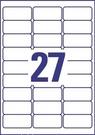 Etykieta adresowa Avery Zweckform J4721-25 InkJet 63,5 x 29,6 transparentna, 675