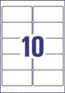 Etykieta adresowa InkJet Avery Zweckorm J4722 - 25, 96 x 50,8mm transparentna, 2