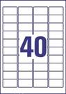 Etykieta adresowa Avery Zweckform L4770 - 25,  rozmiar 45,7 x 25,4mm, transparen