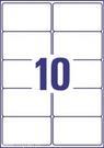 Etykieta adresowa InkJet Avery Zweckform J8173 - 25, 99,1 x 57mm biała, 250 etyk