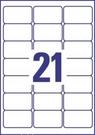 Etykieta adresowa recyklingowana Avery Zweckform LR7160 - 100, 63,5 x 38,1mm, 21