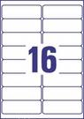 Etykieta adresowa recyklingowana Avery Zweckform LR7162 - 100, 99,1 x 33,9mm, 16