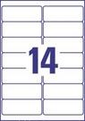 Etykieta adresowa recyklingowana Avery Zweckform LR7163 - 100, 99,1 x 38,1mm, 14