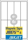 J8875-5 Etykiety magnetyczne InkJet Avery Zweckform, 50 x 140mm, 40 etykiet
