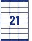 Etykieta adresowa Avery Zweckform L7160 - 100, 63,5 x 38,1mm, 2100 etykiet
