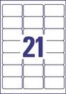 Etykieta adresowa L7560-25 Avery, 63,5 x 38,1mm transparentna, 525 etykiet