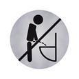 Avery Zweckform 3225 - Toaleta tylko na siedząco, samoprzylepny piktogram