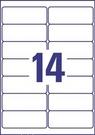 Etykieta adresowa L7563-25 Avery, 99,1 x 38,1mm, transparentna, 350 etykiet