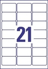 Etykieta adresowa InkJet J8560-25, 63,5 x 38,1mm transparentna, 525 etykiet