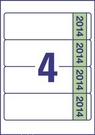 Etykiety na segregator Avery L4761J14 - 20, 192 x 61, na 2014 rok, 80 etykiet