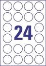 Folia krystaliczna wysokoprzezroczysta Avery Zweckform L7780 - 25, rozmiar kółka