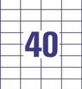 Etykieta uniwersalna Economy EC9177-100, rozmiar 52,5 x 29,7mm,4000 etykiet