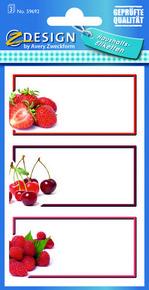 Z-Design 59692 Naklejka spiżarniana - czerwone owoce 3 arkusze, 12 naklejek