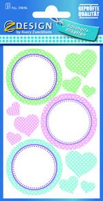 Z-Design 59696 Naklejka papierowa na przetwory - okrągłe kolorowe 3 arkusze