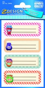 Z-Design 59896 Naklejka papierowa na słoiki - 2 arkusze, 8 naklejek