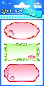 Z-Design 59897 Naklejka papierowa na słoiki - 2 arkusze, 6 naklejek