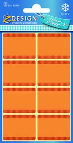 Z-Design 59370 Papierowa etykieta na mrożonki - pomarańczowa, 5 blistrów