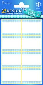 Z-Design 59371 Papierowa etykieta na mrożonki - biała, 5 blistrów