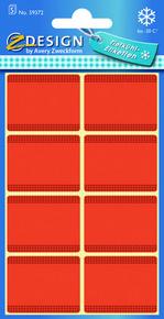 Z-Design 59372 Papierowa etykieta na mrożonki - czerwona, 5 blistrów