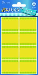 Z-Design 59373 Papierowa etykieta na mrożonki - żółta, 5 blistrów