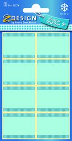 Z-Design 59374 Papierowa etykieta na mrożonki - niebieska, 5 blistrów