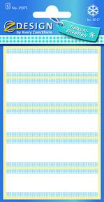 Z-Design 59375 Papierowa etykieta na mrożonki, podłużna - biała