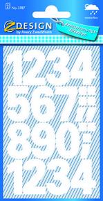 Z-Design 3787 Cyfry samoprzylepne białe 25 mm wodoodporne