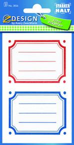 Z-Design 3026 Naklejki na zeszyty i książki - kolorowe ramki 3 arkusze