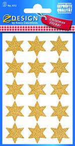 Z-Design 4112 Naklejka bożonarodzeniowa złote gwiazdki 2 arkusze