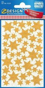 Z-Design 52225 Naklejka bożonarodzeniowa złote gwiazdki