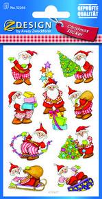 Z-Design 52266 Naklejka bożonarodzeniowa Mikołaje 3 arkusze