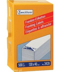 3439 Etykiety / Paski Avery Zweckform do frankownic 130x40mm, 500 etykiet w opak