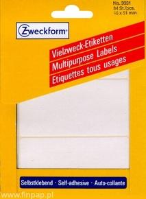 3331 Etykieta do odręcznego opisywania 98 x 51mm/84 szt.