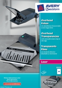 Folia do rzutników 3553 Avery Zweckform, format A4, 100 arkuszy, drukarki lasero