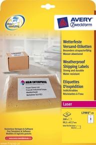 Etykieta adresowa na trudne warunki pogodowe, weatherproof shipping, 99,1 x 67,7